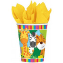 Jungle, Jungle Paper Cup with 8 pieces 266 ml