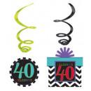 Happy Birthday 40 Deko-Set aus 12 Teilen