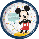 Disney Mickey Awesome Paper Plate with 8 pcs 23 cm