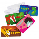 Animals, Animal Party Invitation with 8 pieces