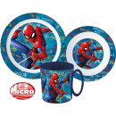 wholesale Licensed Products: Spiderman tableware, micro plastic set