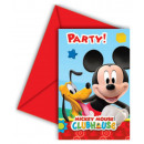 Disney Mickey Party Invitation 6 pcs