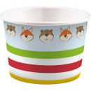 Fox, Fox paper ice cream cup with 8 pcs 270 ml