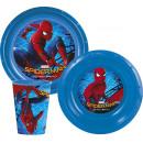 Zastawa stołowa, plastikowy zestaw Spiderman , Spi