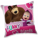 Masha and the Bear cushion, 40 * 40 cm