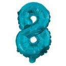 Mini 8-as Blue szám Fólia lufi 10 cm