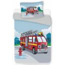 Wóz strażacki Narzuta na pościel dla dzieci 100 ×