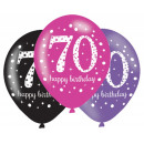 Happy Birthday 70 Ballon mit 6 Ballons