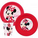 Disney Minnie étkészlet, műanyag szett