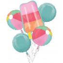 Sommer, Sommer Folienballons, 5 Stück