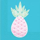 Großhandel Geschenkartikel & Papeterie: Ananas, Ananas Serviette 20 PC