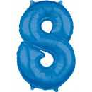 Großhandel Geschenkartikel & Papeterie: Anzahl Folienballons 8, Blau 66 * 45 cm