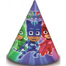 wholesale Headgear: PJ Masks,  Pizsihősök Parti hat, csákó 6 pcs