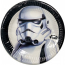 wholesale Party Items: Star Wars Troopers Paper plate 8 pcs 19.5 cm