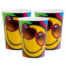 grossiste Jouets: Emoji papier tasse 8 pcs 266 ml
