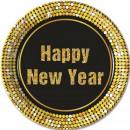 Happy New Year Paper tray 8 pcs 23 cm