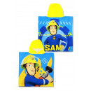 Fireman Sam , Sam is the fireman beach towel ponch