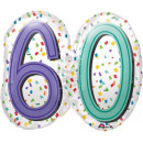 Großhandel Geschenkartikel & Papeterie: Happy Birthday 60 Folienballons 63 cm