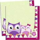 Owl, Owl Napkin with 20 pieces