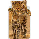wholesale Home & Living: Leopard 140 ×  200cm linen, 70 x 90 cm