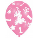 First birthday balloon, balloons 6 pcs