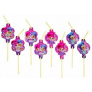 Shimmer and Shine straw, 8 pcs set
