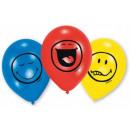 Emoji balloons, balloons 6 pcs