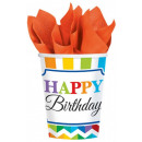 Happy Birthday paper cup 8 pcs 266 ml