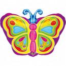 Großhandel Geschenkartikel & Papeterie: Schmetterling, Schmetterlingsfolien ballon 45 cm