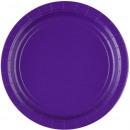 Paper plate 8 pcs. 22.9 cm Purple