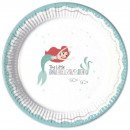 Disney Princess , Ariel Paper Plate with 8 pcs 23