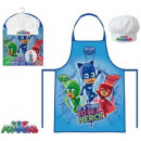 Children's apron 2 pcs set PJ Masks, Pisces