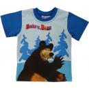 T-shirt per bambini, superiore Masha e l'Orso