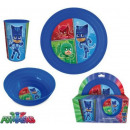 Kitchenware, plastic set PJ Masks, Pisish heroes