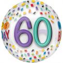 Happy Birthday 60 Sphere Foil Balloons 40 cm