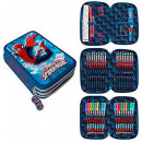 nagyker Licenc termékek: Tolltartó töltött 3 emeletes Spiderman, Pókember
