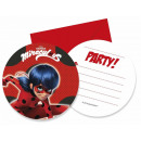 Ladybug and Black Cat Adventures Invitation Card
