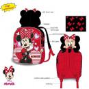 DisneyMinnie Backpack, bag with hood 32 cm