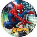 Spiderman , Spiderman Paper Plate 8 x 23 cm