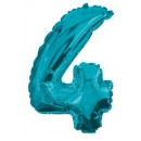 Mini 4-es Blue szám Fólia lufi 10 cm
