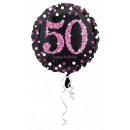 Happy Birthday 50 balonów foliowych 43 cm
