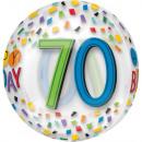 Happy Birthday 70 Sphere Foil Balloons 40 cm
