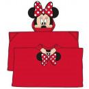 Poncho de Couverture peluche Disney Minnie 80 * 12
