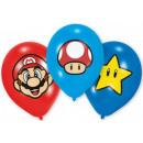 Super Mario balloon balloon with 6 pcs