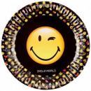wholesale Party Items: Emoji Paper plate 8 x 23 cm
