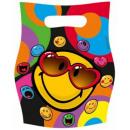 groothandel Licentie artikelen:Emoji Gift Bag 6 stuks