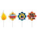 Fireman Sam , Sam the Fire Cake Candle, 4 pieces