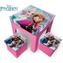 wholesale Houseware: Game storage puff (2 pieces) + table Disney frozen