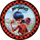 Miraculous Ladybug Paper Plate with 8 pcs 23 cm