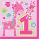 First Birthday Napkin 16pcs